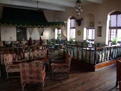Interior view of the Africa House Hotel; Zanzibar
