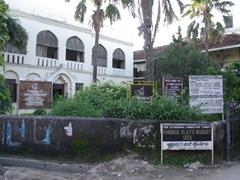 "Signpost for the ""Former Slave Market Site"" of Zanzibar"