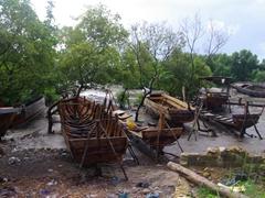 A dhow workshop area; Zanzibar