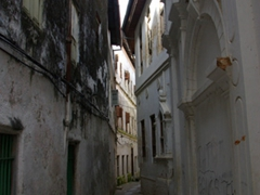 Narrow alleyways of Stone Town