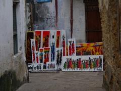 Paintings of Maasai people; Stone Town