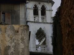 A mosque minaret tower; Zanzibar