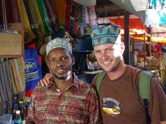 "Robby buys a Swahili Cap (""Pini design from the 20th Century); Zanzibar"