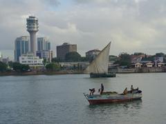 View of the Dar Es Salaam harbor