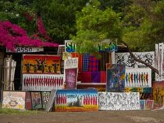 Souvenirs for sale near Lake Manyara