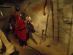 Wax figure of a Maasai warrior; Maasai Museum near Snake Park; Arusha