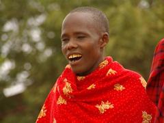 Close up of a Maasai man