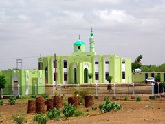 We drove past countless mosques such as this one in Muslim dominated Sudan