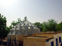 The modern looking mosque in the Blue Nile Sailing Club compound; Khartoum