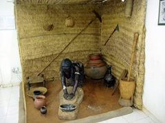 Display of a woman kneading dough; Ethnographic Museum
