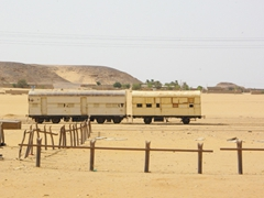 Train carriages in Wadi Halfa