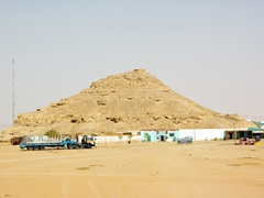 This man-made pyramid shaped mound is the only evidence that the main hub of Wadi Halfa lurks nearby