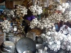 Aluminum kitchen ware for sale; Omdurman Souq