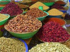 Various spices for sale at the Omdurman Souq; Khartoum