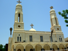 View of a church in Khartoum (churches are vastly outnumbered in predominantly Muslim Sudan)