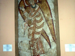 An angel painting inside the Sudan National Museum in Khartoum
