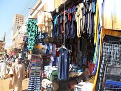 Clothing market section of the Omdurman Souq; Khartoum
