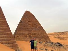 Posing at the Meroe Pyramids