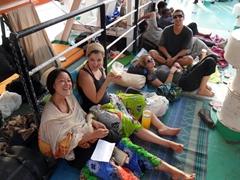 Ichiyo, Ally, Gin and Luke chilling on the Wadi Halfa ferry