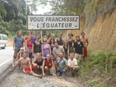 Crossing the equator as we head south. Norma must have been the photographer