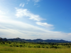 The lovely view on our drive from Ayem to Lope National Park