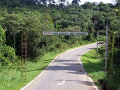 The town of Bitam wishes us a pleasant journey in Gabon