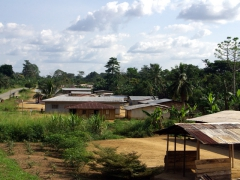Typical Gabonese village