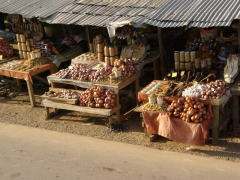 Onions for sale in Oyem market