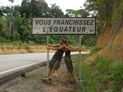 Crossing the equator in Gabon