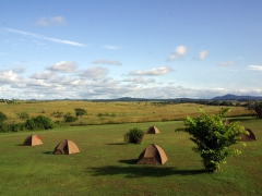 We pitched our tents on the grounds of Motel E.Mbeyi in Lope National Park