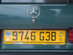 Republic of Gabon license plate
