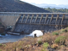 A massive dam project, near Trawal vineyards