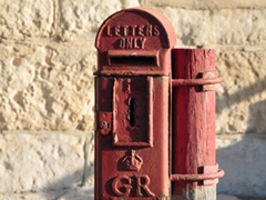 British style post office box; Cape Agulhas