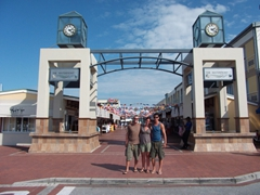 Robby, Bree and Luke at the Knysna waterfront