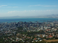 Magnificent Cape Town (as seen from the base of Table Mountain)