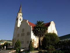 A large church; outskirts of Cape Agulhas