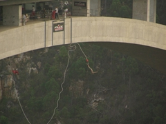 Robby takes the plunge; Bloukrans Bridge bungee jump