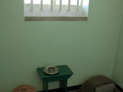 Nelson Mandela's cell; Robben Island