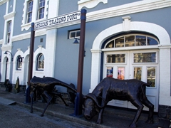 Animal statues outside the African Trading Post; Cape Town