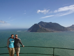 Admiring the view of Hout Bay from Chapman's Peak