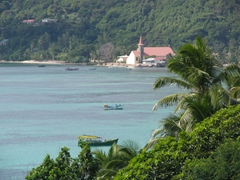Gorgeous vistas from Le Relax hotel (East coast of Mahe)