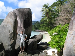 Robby hanging out at Anse Royale