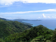 Western Mahe panorama at Sans Souci