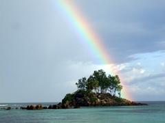 Rainbow; Anse Royale Beach