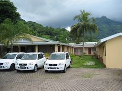 Our perfect Beau Vallon digs….Panorama hotel was conveniently located, clean, and affordable