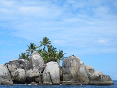 A random rock outcrop on our way towards one of Mahe's most famous dive sites, the amazing Brissare Rocks