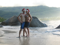 Getting into the Christmas spirit on the beaches of Mahe