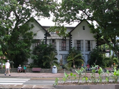 Victoria's old courthouse is a fine example of Creole architecture