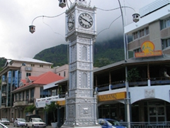 The focal point of downtown Victoria; a replica of London's Vauxhall Bridge clock tower