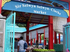 Front entrance to Sir Selwyn Clarke's Market in downtown Victoria
